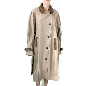 Sosken Over Sized Trench Coat Tan Size 12-14 New